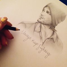 Always keep fighting  #jaredpadalecki #supernatural