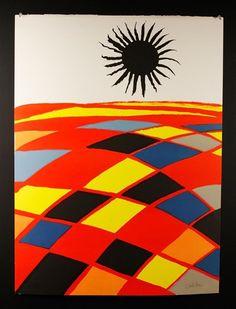 Alexander Calder - Black Sun, lithograph on wove paper