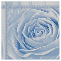 Custom fabric yardage new on Zazzle.  Floral Nature Photo Dainty Light Blue Rose