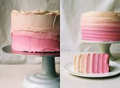 ombre cake - maybe not into pink though per ryan's request ;)