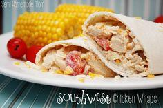 Semi Homemade Mom: Southwest Chicken Wraps