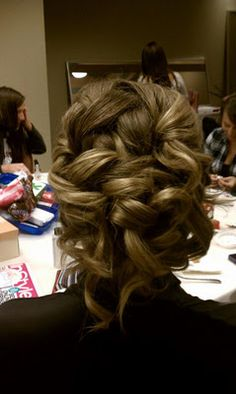 My bridesmaid hair -- loved