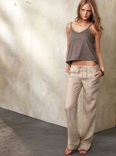 The Beach Pant in Linen #VictoriasSecret http://www.victoriassecret.com/clothing/pants/the-beach-pant-in-linen?ProductID=58339=OLS?cm_mmc=pinterest-_-product-_-x-_-x
