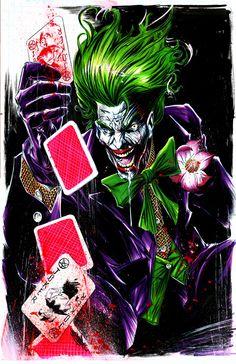 joker sketch by Mike Lilly, awesome color Joker Batman, I Am Batman, Joker Art, Batman Story, Joker Comic, Batman Arkham, Superman, Der Joker, Joker Und Harley Quinn