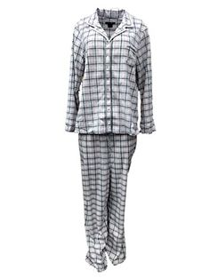 Earth Angels Womens Pale Pink  Gray Plaid Fleece Pajamas Plush Sleep Set ** Check this awesome product by going to the link at the image.(This is an Amazon affiliate link and I receive a commission for the sales)