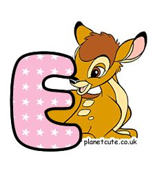 Planet Cute - Alphabet - Bambi - Image Bambi, Disney Letters, Cute Alphabet, Letters And Numbers, Tweety, Winnie The Pooh, Pikachu, Disney Characters, Fictional Characters