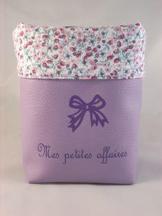 """Vide poche en simili pour fille """"Mes petites affaires"""" personnalisable : Meubles et rangements par les-p-tites-zettouilles"""