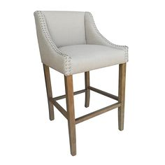 Home Shopping Parkland Contemporary Wood/Faux Leather Barstool, Beige, 1 Stool by Modern Home Bar Furniture, Furniture Deals, Modern Furniture, Tall Bar Stools, Counter Stools, Bar Chairs, Office Chairs, Kitchen Stools, Kitchen Island