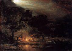 Descanso en la huida a Egipto, Rembrandt, Luis Fernando Serna.