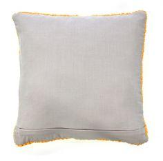 Poduszka dziergana żółta 45x45