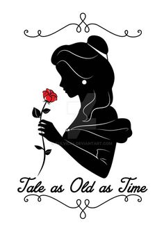 Ideas For Tattoo Quotes Disney Beauty And The Beast Ideen für Tattoo-Zitate Disney Beauty And The Beast Princesa Disney Bella, Belle Disney, Disney Diy, Disney Ideas, Beauty And The Beast Silhouette, Beauty And The Beast Party, Disney Beauty And The Beast, Beauty And The Beast Drawing, Beauty Beast