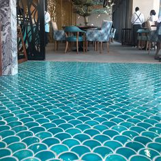 Fish Scales on the Floors by Otto Tiles And Design at La Mer Dubai