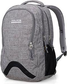 42c9777e5c5 Amazon.com   Mozone Large Lightweight Water Resistant College School Laptop  Backpack Travel Bag (Black)   Kids  Backpacks