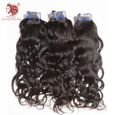 """6A 3 unids 12 """"-30"""" nueva Llegada de la Virgen Extensiones de Cabello Cuerpo Curl Weave color Natural sedosa textura para su pelo agradable"""