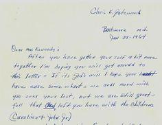 Letters To Jackie | Dear Mrs. Kennedy...