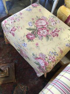 Yellow Floral Ottoman - Auburn SKU 4VN6QW - $48.00