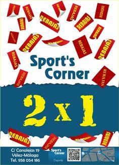 Aprovecha el 2x1 en Tienda Sports Corner de Vélez-Málaga.
