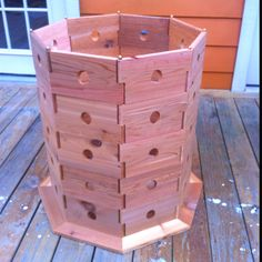 Planter box finished now waiting to plant strawberries. I can plant 40 plants in this box.......awesome!