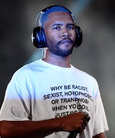 """- At """"Why be racist, sexist, homophobic or transphobic when you could just be quiet? Thank fuck for Frank Ocean man. 👏🏼👏🏼 Full article link in bio 💥 John Legend, Frank Ocean Wallpaper, Rap Wallpaper, Frank Ocean Poster, Sup Girl, Rapper, Festival T Shirts, Tyler The Creator, Questions"""