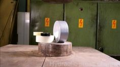 DUCT TAPE TAKES ON THE HYDRAULICPRESS  Duct tape. Hydraulic...