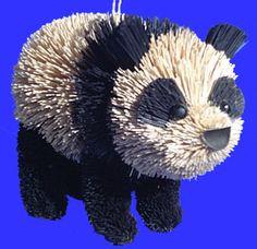 Buri Animal Panda Ornament by BrushArt