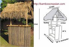 Quality Bamboo and Asian Thatch: Tiki Bars and Huts Bamboo Bar-Bamboo Creasian / Custom built - DIY or buy Bamboo Tiki bar(Huts) assembly -Prefab Bamboo Huts (Gazebo) for Business and Residential Pool Bar, Diy Pergola, Gazebo, Pergola Kits, Bar Palettes, Tiki Bar Stools, Bars Tiki, Tikki Bar, Outdoor Tiki Bar