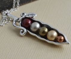 SALE 5 peas in a pod  precious metal sterling by JBExclusives, $53.00