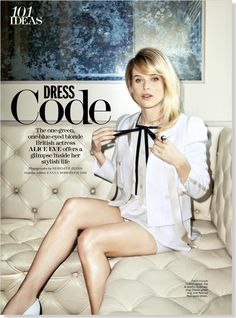 Dress Code: Alice Eve. Clipped from the print page of Marie Claire using Netpage.