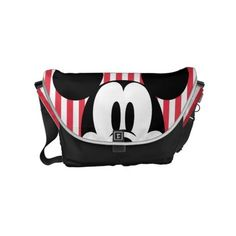 Peek-a-Boo Mickey Mouse Courier Bag ($111) ❤ liked on Polyvore featuring bags, courier bag, mickey mouse messenger bag, mickey mouse bag, messenger bag y black bag