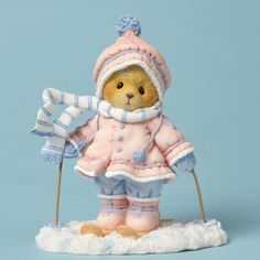 """Cherished Teddies """"Aimee"""" Time With You Is Snow Much Fun Figurine"""