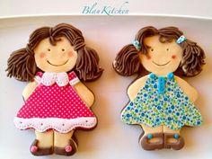Galletas decoradas niña con coletas
