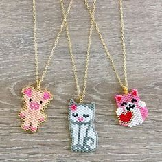 Collares Necklaces #lafoxguadalajara #necklace #collar #colors #pig #cat #heart #pink #red #luxury #style #fashion #moda #protection #instagram #instagood #instadaily #love #valentineday #new #cool #followme #miyuki #handmade #jewelry #joyeria #goodmorning #mexico #guadalajara #orolaminado