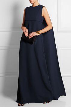 dream dresss Valentino|Robe longue du soir en cady de soie à dos effet cape|NET-A-PORTER.COM