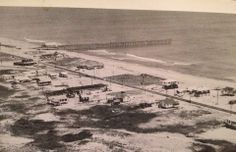 Old Kitty Hawk Photo.  Year Unknown.  No Bypass, only Beach Road.  #OBX