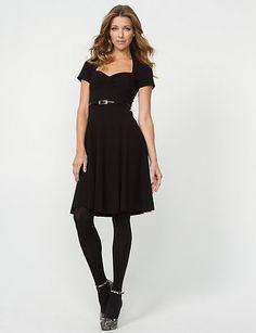 Dress Shop 504; black simple dress for collarbone