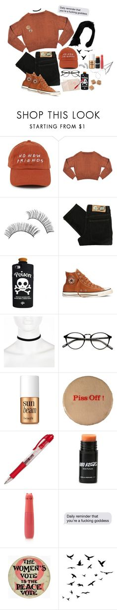 """""""Grunge Goddess"""" by grunge4lyfe ❤ liked on Polyvore featuring Hahn, Chicnova Fashion, Cheap Monday, Valfré, Converse, River Island, Benefit, Forever 21 and WALL"""