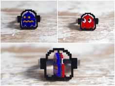 Double-sided Pac-Man ghost ring