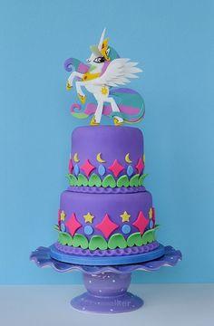 8 Lil Pony Themed Cakes Photo - My Little Pony Birthday Cake, My Little Pony Theme Cake and My Little Pony Cake My Little Pony Party, Themed Birthday Cakes, Themed Cakes, Pretty Cakes, Cute Cakes, Bolo Rapunzel, Princess Celestia, Party Ideas, Mlp Cake