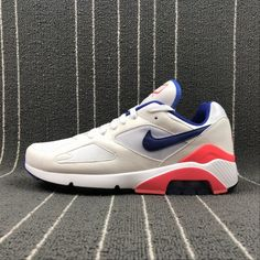 Buy Unisex Nike Air Max 180 OG White Blue Pink Nike Air Max 180 UK in the shop.We guarantee that the shoes you buy are authentic, and we also offer you free home delivery. Air Max 180, Nike Air Max, Air Max Sneakers, Sneakers Nike, New Man, All Black, Nike Men, Unisex, Orange