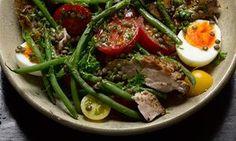 Pork and lentil salad