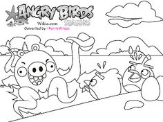 Red Angry Bird Coloring Pages yellowbirdangrybirdscoloring