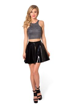 Black Milk Clothing Chainmail Reversible Crop