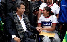 """VAMOS POR EL NOBEL 2012  """"POSTULACIÓN DE LENIN MORENO""""  Un grupo de ecuatorianos residentes en Noruega, orgullosos de la plausible labor que ha desarrollado el Vicepresidente de la República del Ecuador a favor de las personas con discapacidad, a través del Programa Misión Solidaria Manuela Espejo, se unieron para solicitar ante el Instituto Nobel de Noruega la candidatura de Lenín Moreno al Premio Nobel de la Paz."""