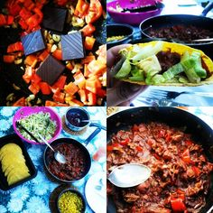 Plantaardig zonder banaan: Taco's met kipstuckjes in chocoladesaus, kidneybonen, maïs en salade, como in Mexico!
