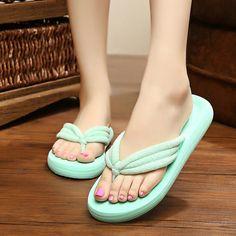 007c2a058d6 Big Size Summer Beach Slippers Breathable Flip Flops Platform Sandals  Gender Female