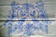 New Hungarian Kalocsa Pillowcase for Hand Embroidery Heart Pattern Flowers #Kalocsa