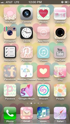 Make your IPhone home screen pretty! Free App - cocoppa