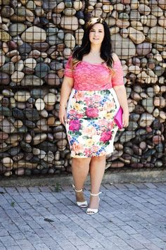 plus size bodysuit pencil skirt summer 2015 trends ootd crystal coons how to wear a bodysuit Summer Fashion Outfits, Summer Outfits Women, Women's Fashion Dresses, Curvy Fashion, Plus Size Fashion, Style Fashion, Looks Plus Size, Mode Chic, Moda Plus Size