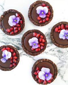 Secret Squirrel Food – Chocolate Pomegranate Tarts