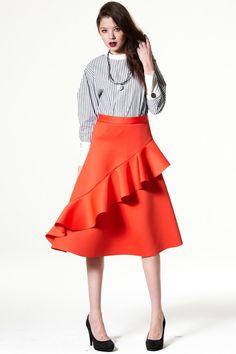 Sway Lover Neoprene Skirt - storets.com  #Ruffles #Fullskirt